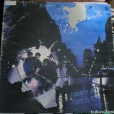 Discos de vinilo: LP BURNING. NOCHES DE ROCK & ROLL. PORTADA UN POCO DETERIORADA POR DELANTE ,EL VINILO PERFECTO. Lote 262286090