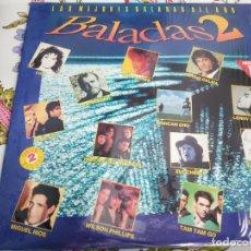 Discos de vinilo: VARIOUS LAS MEJORES BALADAS DEL AÑO-BALADAS 2 (2XLP)HISPAVOX 180 7 98745 1.MUY BUEN ESTADO. Lote 262297185