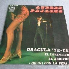 Discos de vinilo: ANDRES PAJARES - DRÁCULA YE-YÉ - EP SPAIN 1968 - REGAL SEDL 19.588. Lote 262318775