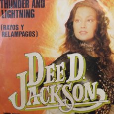 Discos de vinilo: DEE D. JACKSON.** THUNDER AND LIGHTNING * LIVING IN A DREAM **. Lote 262319615