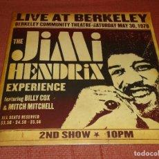 Discos de vinilo: LP JIMI HENDRIX LIVE AT BERKELEY 30/5/1970 2ND SHOW. Lote 262319890