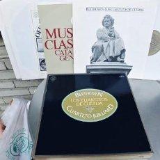 Discos de vinilo: BEETHOVEN-CAJA CON 10 LP-LOS CUARTETOS DE CUERDA. Lote 262325180