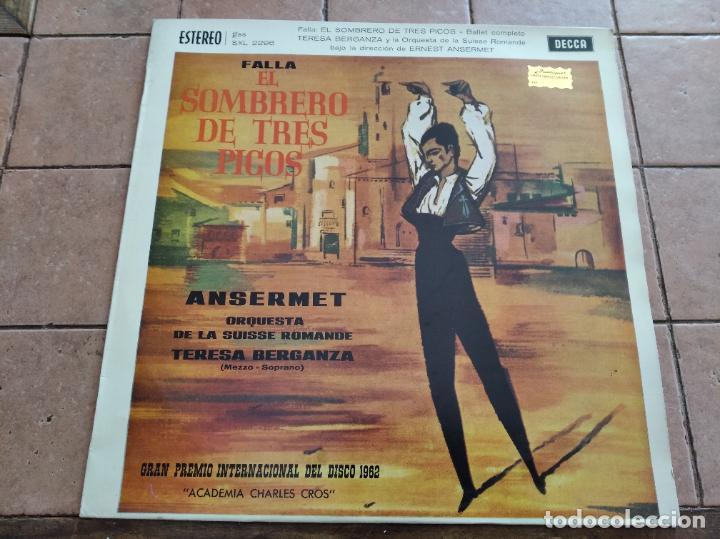 FALLA / ANSERMET - EL SOMBRERO DE TRES PICOS - DECCA 1961 - PREMIO INTERNACIONAL DEL DISCO (Música - Discos - LP Vinilo - Clásica, Ópera, Zarzuela y Marchas)