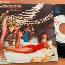 Discos de vinilo: THE RITCHIE FAMILY (I'LL DO MY BEST) SINGLE ESPAÑA 1982 (EPI23). Lote 262347565