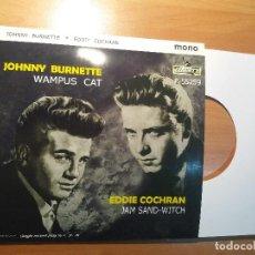Discos de vinilo: EDDIE COCHRAN - JOHNNY BURNETTE . PORTADA FICTICIA . ( NO INCLUYE DISCO ). Lote 262351350