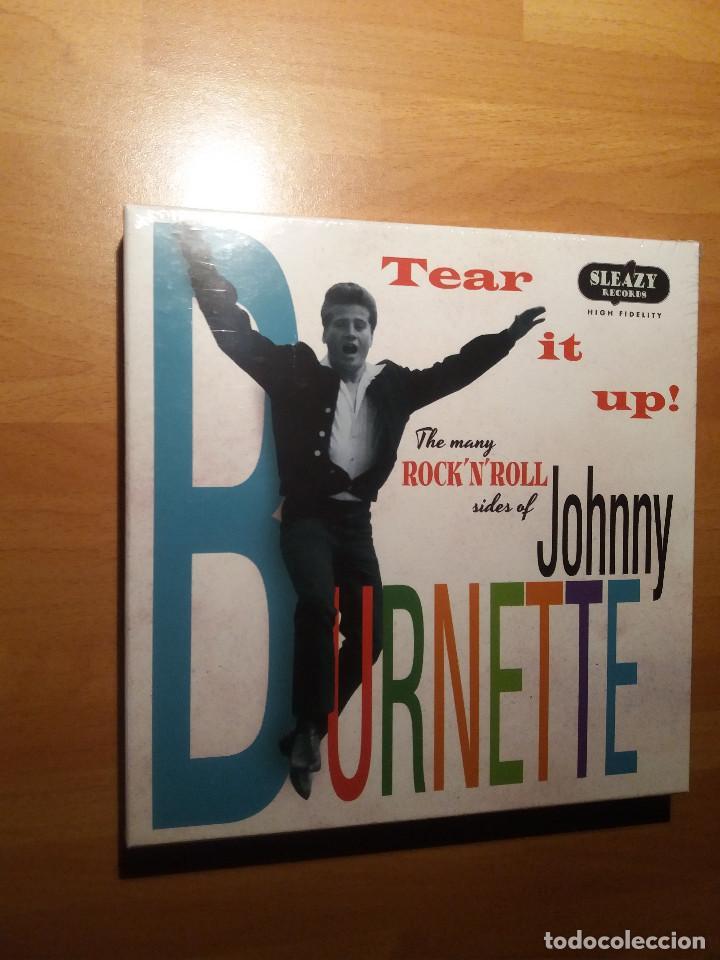 JOHNNY BURNETTE , CAJA EP X6 + OBSEQUIO CAMISETA 80´S ROCKER (Música - Discos de Vinilo - EPs - Rock & Roll)