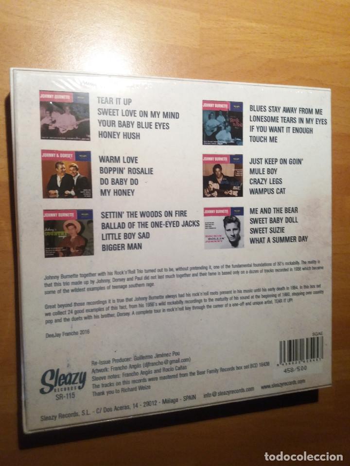 Discos de vinilo: Johnny Burnette , caja ep x6 + OBSEQUIO camiseta 80´s rocker - Foto 2 - 262352460