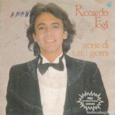 Discos de vinilo: 45 GIRI RICCARDO FOGLI STORIE DI TUTTI I GIORNI 1982 SANREMO FESTIVAL WINNER LABEL CBS HOLLAND COV. Lote 262354495