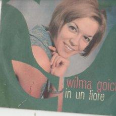 Discos de vinilo: 45 GIRI WILMA GOICH IN UN FIORE /UNA ROSA ROSSA , UNA FOGLIA GIALLA RICORDI SANREMO 66 STIKED DELETE. Lote 262355625