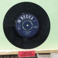Discos de vinilo: TOM JONES. DECCA 1965, REF. F.12292 - SINGLE (SIN CARPETA), EDICIÓN INGLESA. Lote 262355870