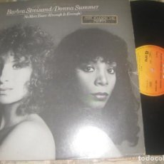 Discos de vinilo: BARBARA STREISAND Y DONNA SUMMER-(CBS-1979) OG ESPAÑA. Lote 262363500