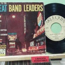Discos de vinilo: OSCAR CLINTON Y SU ORQUESTA. A SALUTE GREAT BAND LEADERS. ARLEQUIN 1959, REF. 1.006 - EP. Lote 262363935