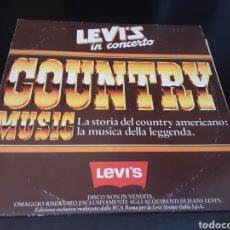 Discos de vinilo: LEVI'S IN CONCERTO. COUNTRY MUSIC. LA STORIA DEL COUNTRY AMERICANO.. Lote 262364200