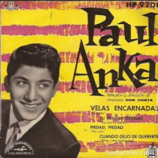 Discos de vinilo: EP PAUL ANKA VELAS ENCARNADAS HISPAVOX 9701. Lote 262367595