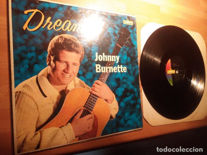 JOHNNY BURNETTE , DISCO AUTOGRAFIADO ORIGINAL 1960. (Música - Discos - LP Vinilo - Rock & Roll)