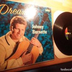 Discos de vinilo: JOHNNY BURNETTE , DISCO AUTOGRAFIADO ORIGINAL 1960.. Lote 262370890