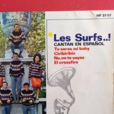 Discos de vinilo: LES SURFS.** TU SERÁS MI BABY * CIRIBIRIBIN * NO, NO TE VAYAS * EL CROSSFIRE **. Lote 262373280