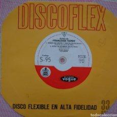 Discos de vinilo: FRANCOISE HARDY SINGLE DISCOFLEX EDITADO EN ESPAÑA POR EL SELLO VOGUE-HISPAVOX AÑO 1963.... Lote 262374600