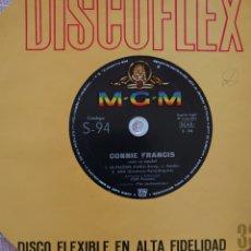 Discos de vinilo: CONNIE FRANCIS CANTA EN ESPAÑOL SINGLE DISCOFLEX EDITADO EN ESPAÑA POR EL SELLO M-G-M...AÑO 1963.... Lote 262375070