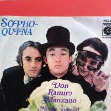 Discos de vinilo: SOPHO QUINA.** DON RAMIRO MANZANO * NOCHE NUPCIAL**. Lote 262376250