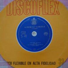 Discos de vinilo: ALBERTO CORTEZ SINGLE DISCOFLEX EDITADO EN ESPAÑA POR EL SELLO HISPAVOX AÑO 1961. Lote 262376950