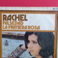 Discos de vinilo: RACHEL.** FALSEDAD * LA PRIMERA ROSA **. Lote 262378160