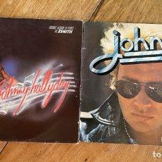 Discos de vinilo: LOTE LP VINILOS JOHNNY HALLYDAY- DOBLE ALBUM ZENITH Y ROCK 'N SLOW. Lote 262379650