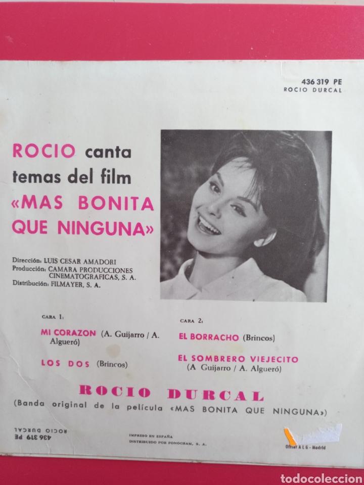 Discos de vinilo: ROCIO DURCAL.** MI CORAZÓN * LOS DOS * EL BORRACHO * EL SOMBRERO VIEJECITO ** - Foto 2 - 262380220