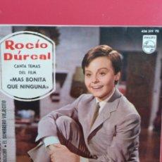 Discos de vinilo: ROCIO DURCAL.** MI CORAZÓN * LOS DOS * EL BORRACHO * EL SOMBRERO VIEJECITO **. Lote 262380220