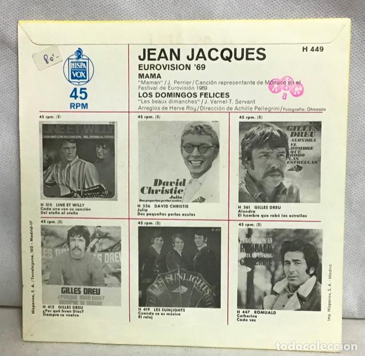 Discos de vinilo: JEAN JACQUES, EUROVISION 69, DISCO - Foto 2 - 262380470