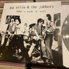 Discos de vinilo: GG ALLIN 1980S ROCK AND ROLL LP DISCO DE VINILO PUNK. Lote 262387350