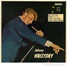 Discos de vinilo: JOHNNY HALLYDAY WAP DOU WAP + 3. Lote 262390315