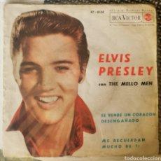 Discos de vinilo: ELVIS PRESLEY CON THE MELLO MEN RARA VERSIÓN ESPAÑOLA. Lote 262400845