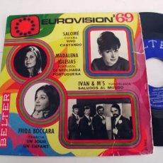 Discos de vinilo: EUROVISION 69-EP SALOME MAGDALENA IGLESIAS. Lote 262404780