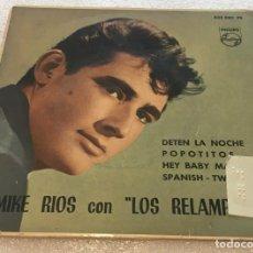 Discos de vinilo: EP MIKE RIOS EXPLOSIVO CON LOS RELAMPAGOS - DETEN LA NOCHE Y OTROS TEMAS - PHILIPS -PED MINIMO 7€. Lote 262415835