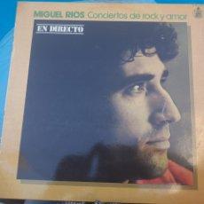 Discos de vinilo: LP DE MIGUEL RÍOS CONCIERTOS DE ROCK Y AMOR. Lote 262420935