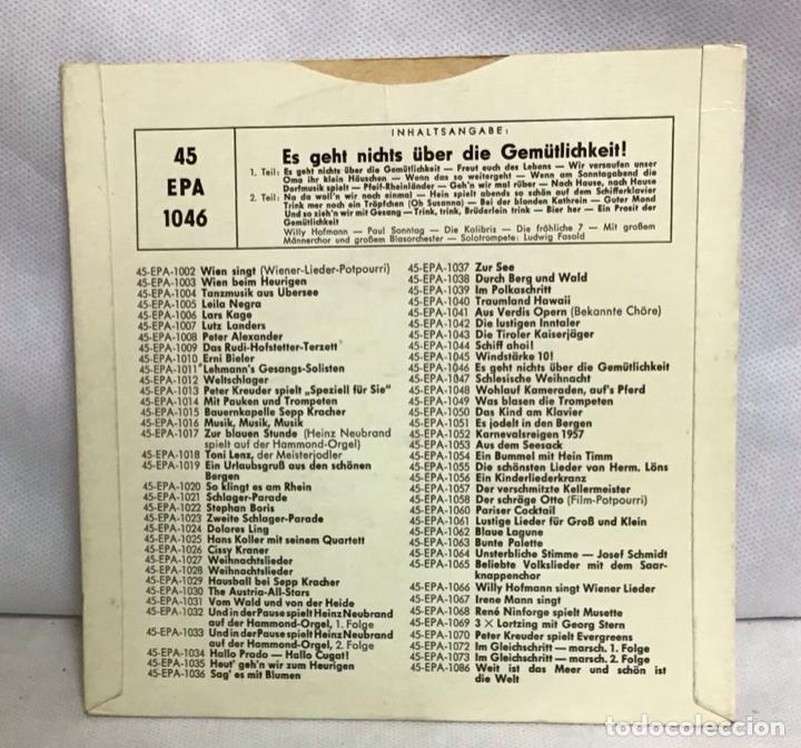 Discos de vinilo: ES GEHT NICHTS ÜBER DIE GEMÜTLICHKEIT - Foto 2 - 262427330