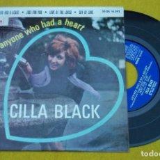 "Discos de vinilo: 7"" CILLA BLACK - ANYONE WHO HAD A HEART -ODEON DSOE 16.592 -EP -SPAIN (EX/VG+)Ç. Lote 262427715"