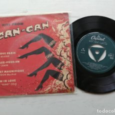 Discos de vinilo: VARIOUS ‎– HITS FROM CAN-CAN EP UK 1954. Lote 262427915
