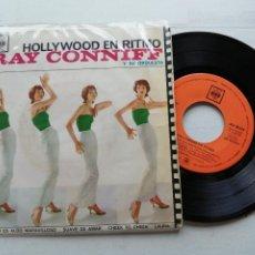 Discos de vinilo: RAY CONNIFF Y SU ORQUESTA* – HOLLYWOOD EN RITMO EP SPAIN 1963 VG/VG. Lote 262432425