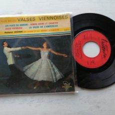 Discos de vinilo: ROLAND DIDIER ET SES CORDES – LES PLUS BELLES VALSES VIENNOISES EP FRANCIA VINILO VG+/PORTADA VG. Lote 262438445
