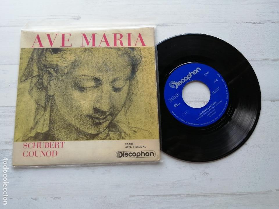 LES GOSSES DE PARIS – AVE MARIA (SCHUBERT Y GOUNOD) SINGLE SPAIN 1961 VG+/VG+ (Música - Discos - Singles Vinilo - Clásica, Ópera, Zarzuela y Marchas)
