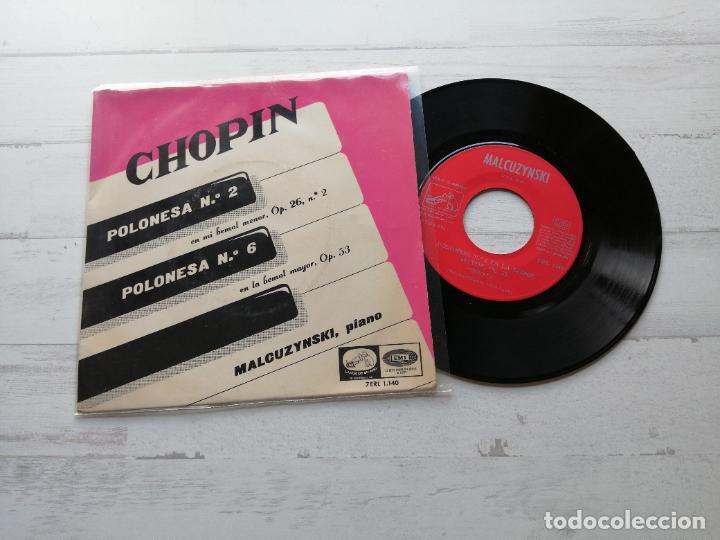 MALCUZYNSKI*, CHOPIN* – POLONESA N° 2 / POLONESA N° 6 SINGLE SPAIN 1958 VG++/VG++ (Música - Discos - Singles Vinilo - Clásica, Ópera, Zarzuela y Marchas)