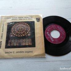Discos de vinilo: J. S. BACH* – SIMON C. JANSEN – INVOCO VUESTRA PROTECCIÓN EP SPAIN 1964 VG/VG. Lote 262445890