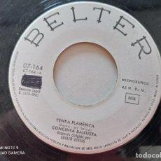 Discos de vinilo: CONCHITA BAUTISTA - REINA POR UN DIA / YENCA FLAMENCA - SINGLE PROMOCIONAL BELTER 1965. Lote 262449605