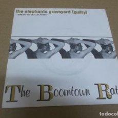 Discos de vinilo: THE BOOMTOWN RATS (SINGLE) THE ELEPHANTS GRAVEYARD (GUILTY) AÑO 1981. Lote 262450445