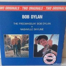 Discos de vinilo: BOB DYLAN - THE FREEWHEELIN´ + NASHVILLE SKYLINE CBS 2 LP´S - 1989 GAT. Lote 262455375