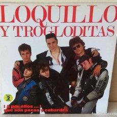 Discos de vinilo: LOQUILLO Y LOS TROGLODITAS - A POR ELLOS… QUE SON POCOS Y COBARDES HISPAVOX 2 LP´S - 1989. Lote 262457035