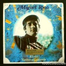 Discos de vinil: MIGUEL RIOS (SINGLE 1968) EL RIO - VUELVO A GRANADA. Lote 262458030