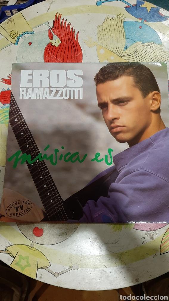 1980 EROS RAMAZZOTTI MÚSICA ES LO BUENO ESTADO DISCOS COLISEVM COLECCIONISMO ANTIGÜEDADES (Música - Discos - LP Vinilo - Canción Francesa e Italiana)